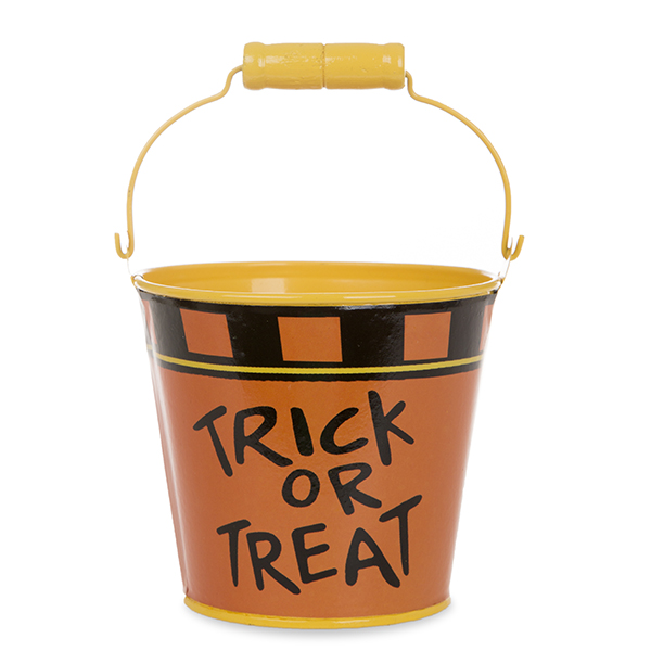 Mini Round Halloween Bucket - Trick or Treat 4in