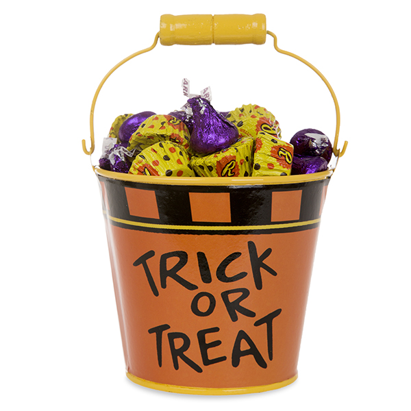 Mini Round Halloween Bucket Trick Or Treat The Lucky