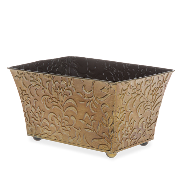 Xavier Small Vine Rectangular - Antique Gold 9in
