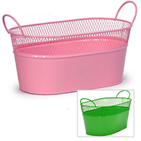 Medium Oblong Mesh Tray with Handles