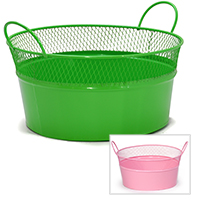 Round Mesh Tray with Handles