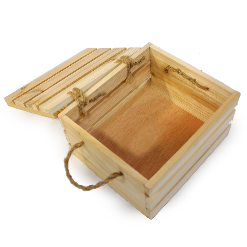 Natural Wooden Crate Storage Box With Lid   Small 7in. Zoom. Thumb Thumb  Thumb Thumb Thumb Thumb Thumb