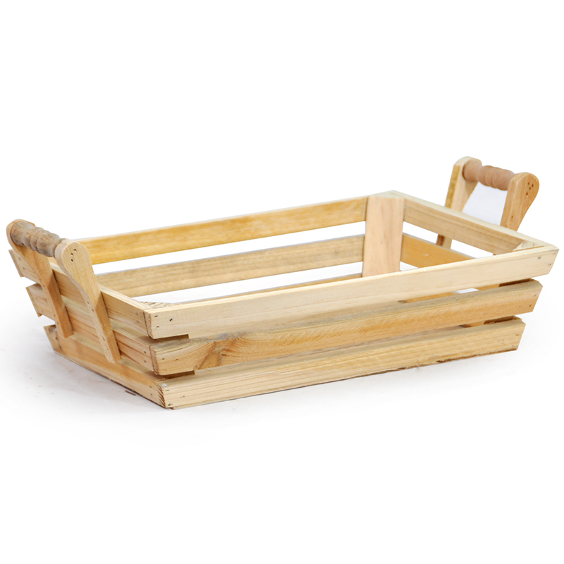 Rectangular Wood Tray With Handles Large The Lucky