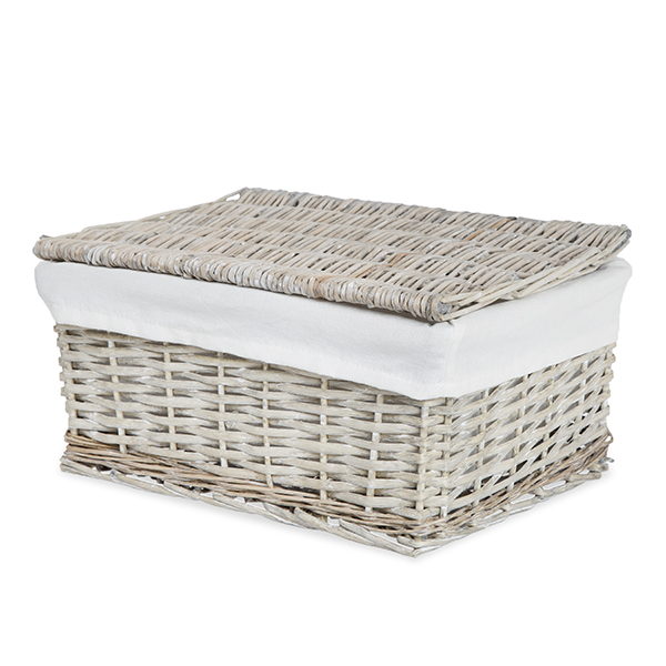Wicker Basket With Lid And Liner Detailed View View In Room Detailed View Laundry Baskets Buy