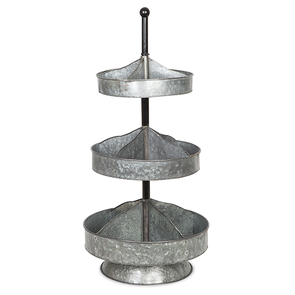 Round Three Tiered Metal Stand
