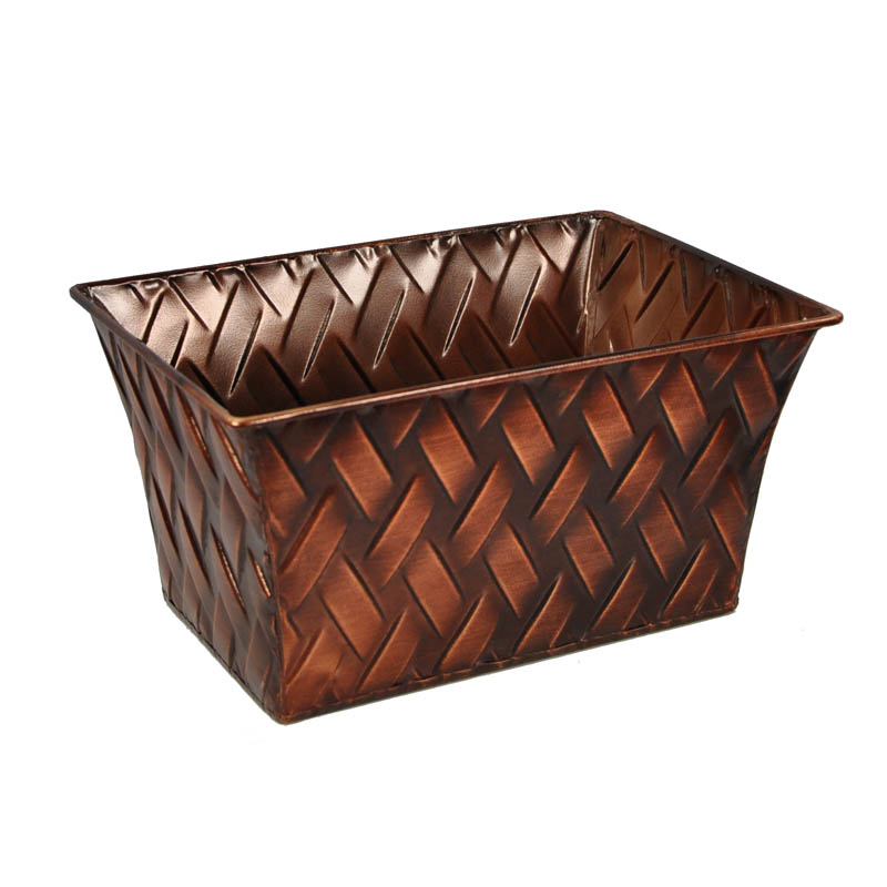 Xavier Small Braided Rectangular - Copper Metal 8in