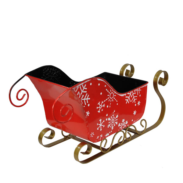 Sleigh Snow Flakes Basket Container Small The Lucky