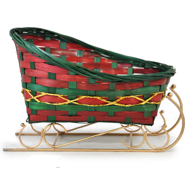 Holiday bamboo sleigh large the lucky clover trading co