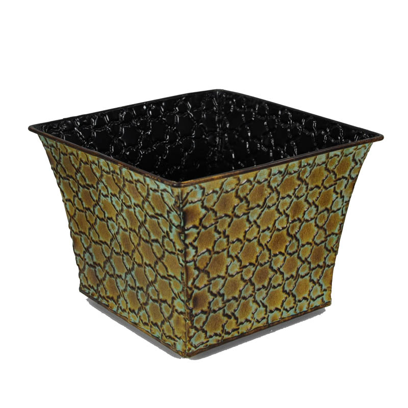 Xavier Medium Square Ridged - Antique Bronze 6in