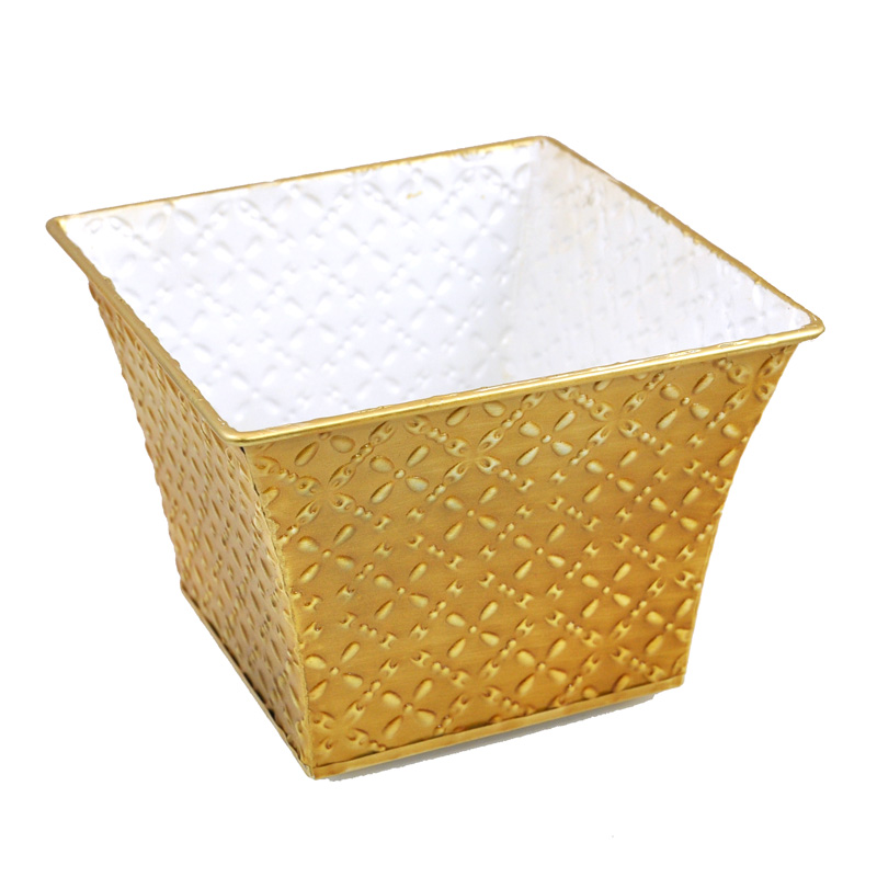 Square Textured Braid Tin 6in