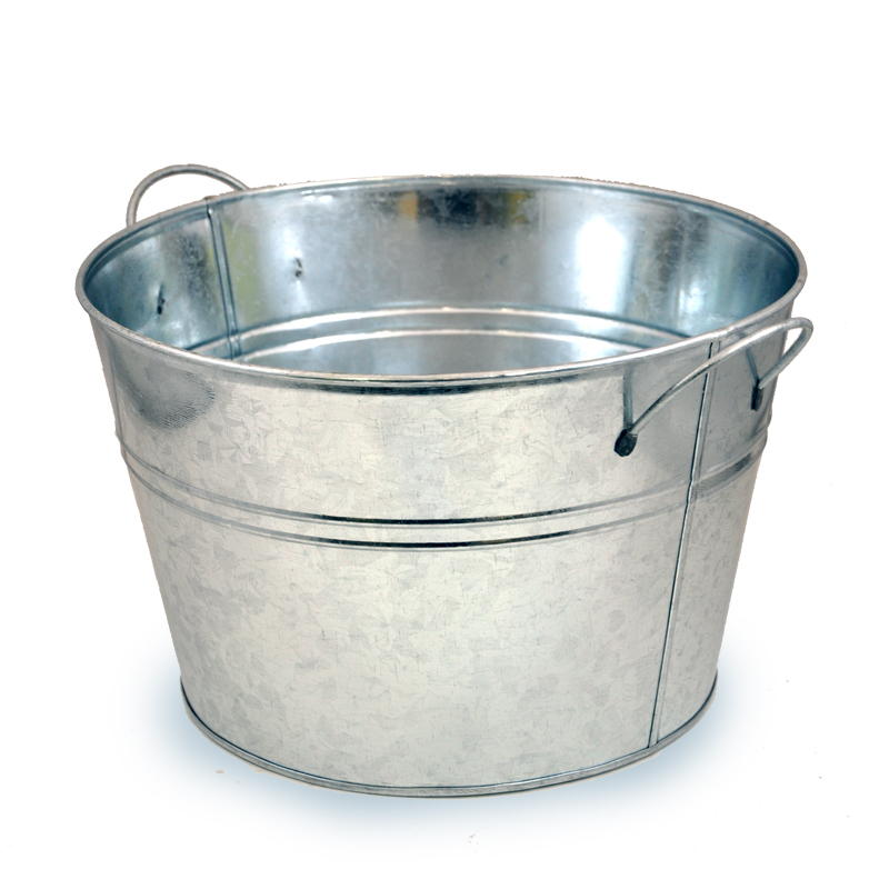 Classic Round Metal Pail Large The Lucky Clover Trading Co