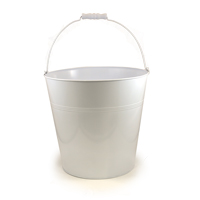 Jillian Large Bucket with Swing Handle (White)