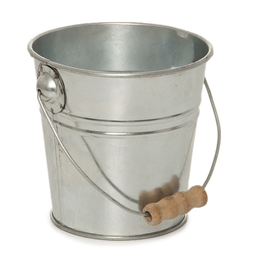 Jillian Mini Round Metal Pail with Handle 4in