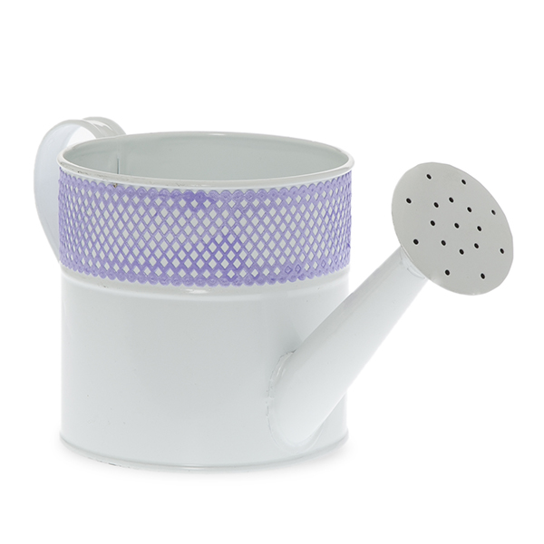 Spring Round Watering Can with Mesh Trim- Small 4in