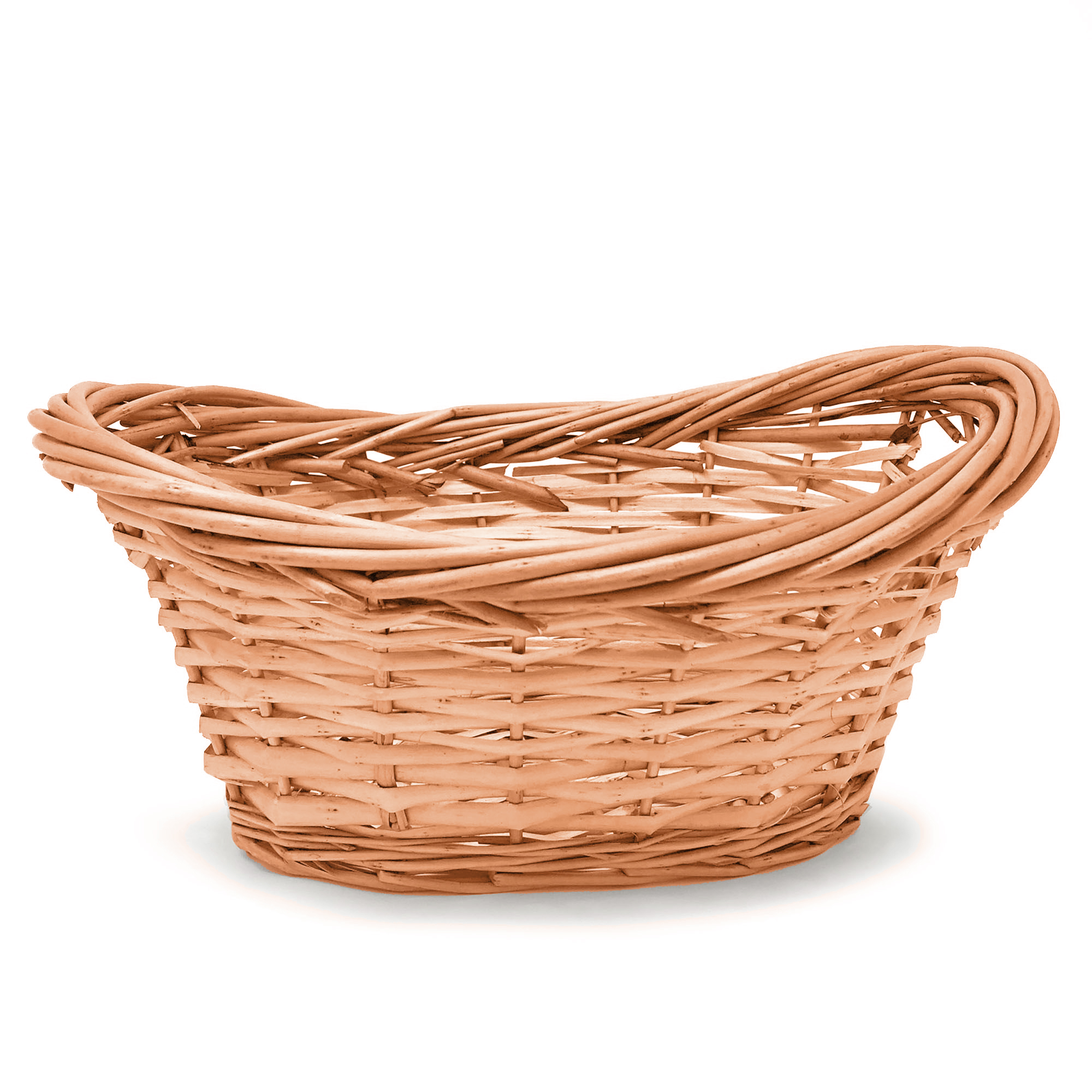 Willow Utility Basket 12in- Honey