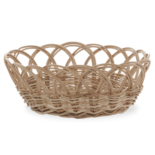 Willow Oval Bowl Basket 13in