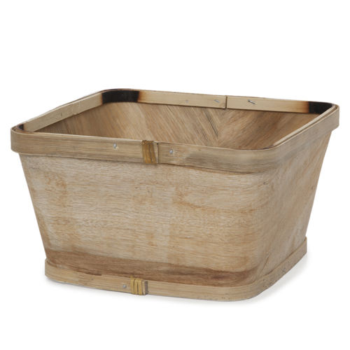 Square Woodchip Paintable Planter Basket - Medium 7in