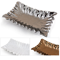 Regalia Ruffled Trim Designer Tray - Rectangular