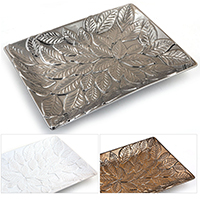 Regalia Raised Leaf Design Tray - Rectangular