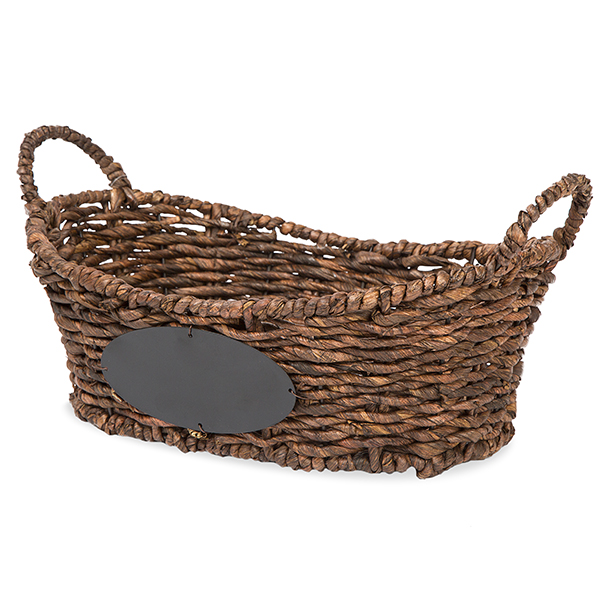 Audrey Oblong Utility Basket Chalkboard Label Brown - Sm 13in