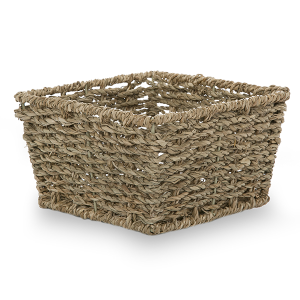 Michaela Small Sea Grass Square Utility Basket - 6in