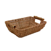 Kalani Medium Sea Grass Tray with Bamboo Handle