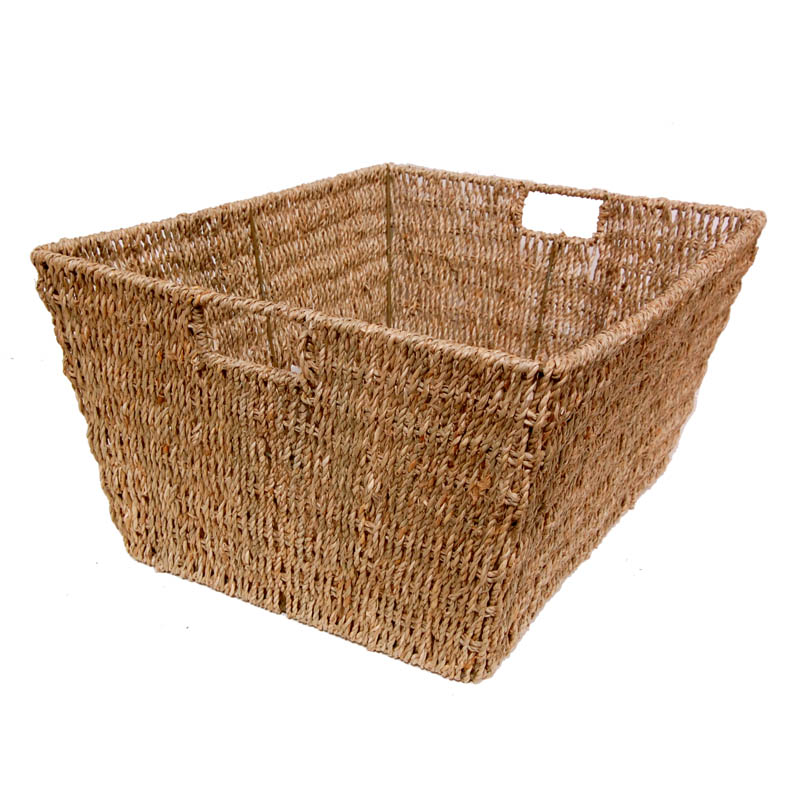 Michaela Medium Sea Grass Rectangular Utility Basket 16in