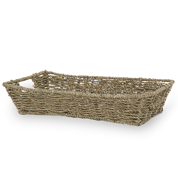 Flat Rectangular Tray - Seagrass Wholesale Baskets The Lucky Clover Trading Co.