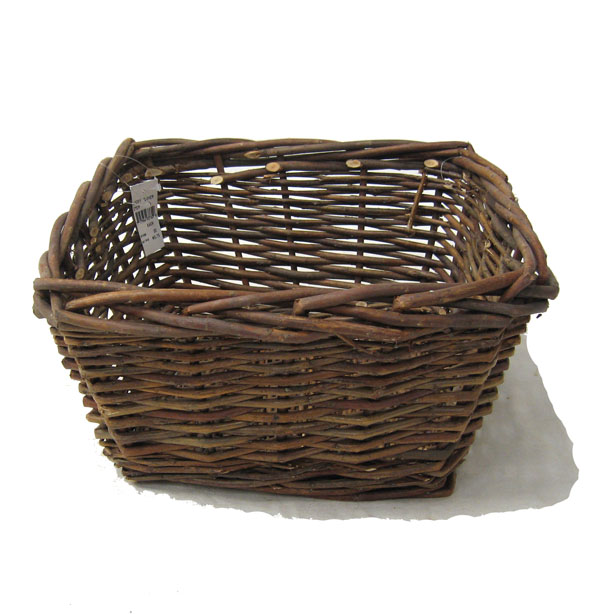 Rustic Willow Square Tray Basket - Small 12in