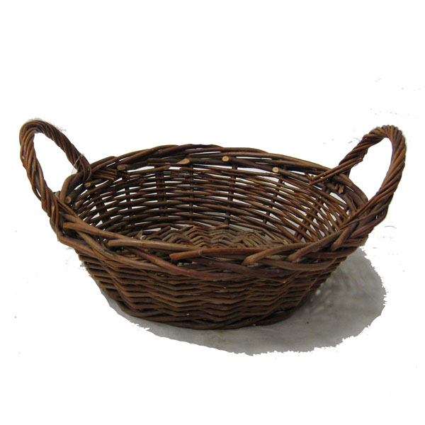 Red Willow Round Tray Basket 13in