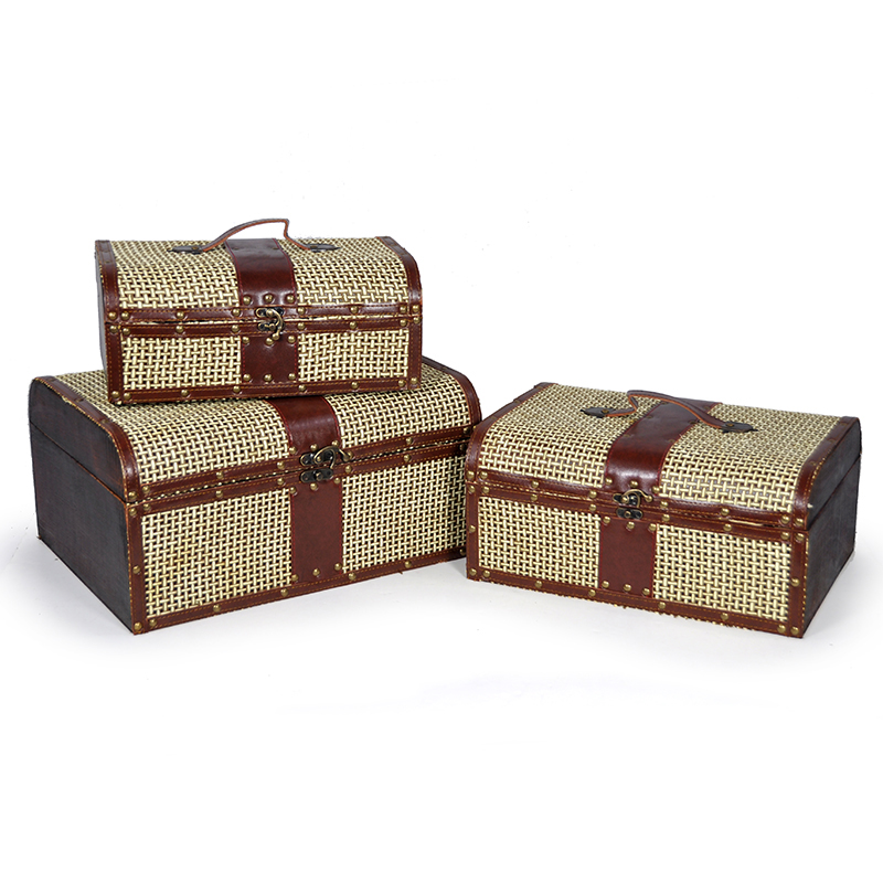 Voyage Coll Lattice Woven Storage Box - Set of Three