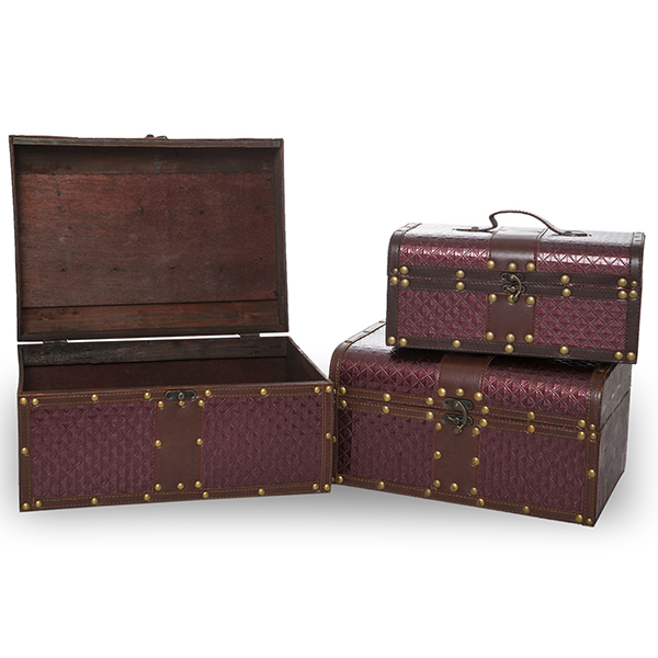 Voyage Collection Quilted Storage Box - Set of Three