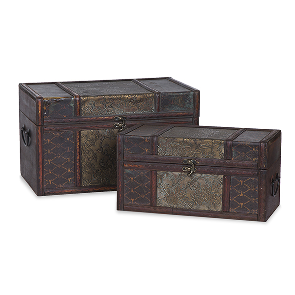 Voyage Collection Floral Vine Storage Box - Set of Two 13in