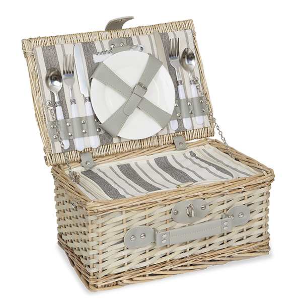 Rustic All in One Picnic Basket for Two - Medium 13in