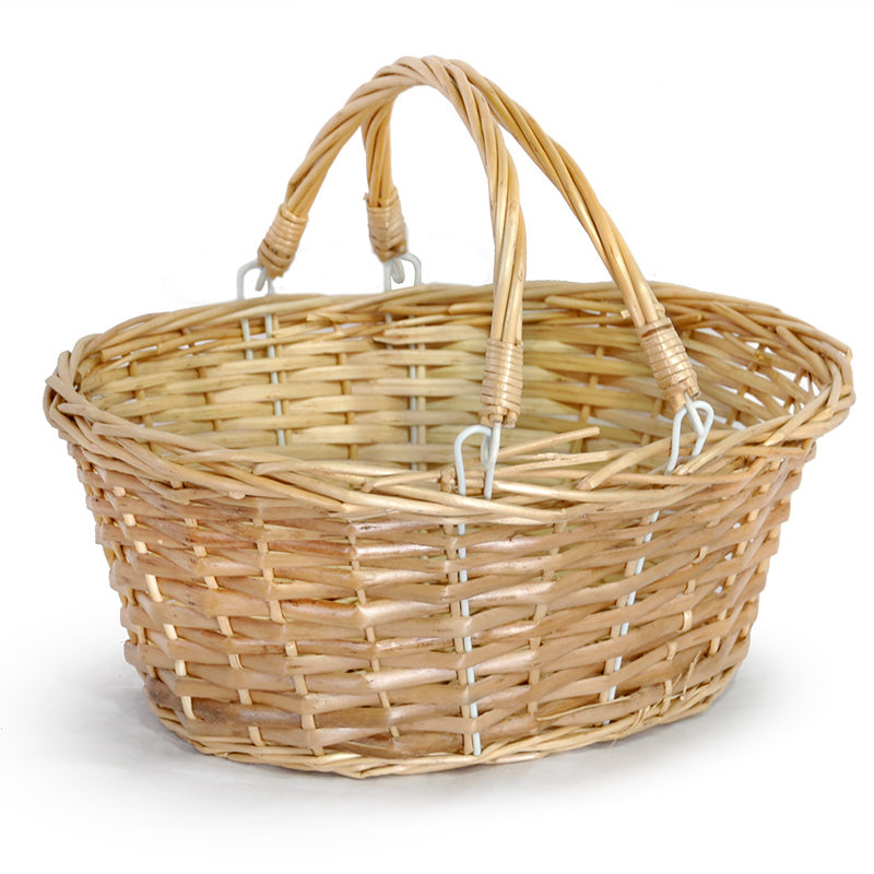 Lucy Small Split Willow Shopping Basket 12in