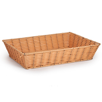 Rectangular Synthetic Wicker Tray - Small
