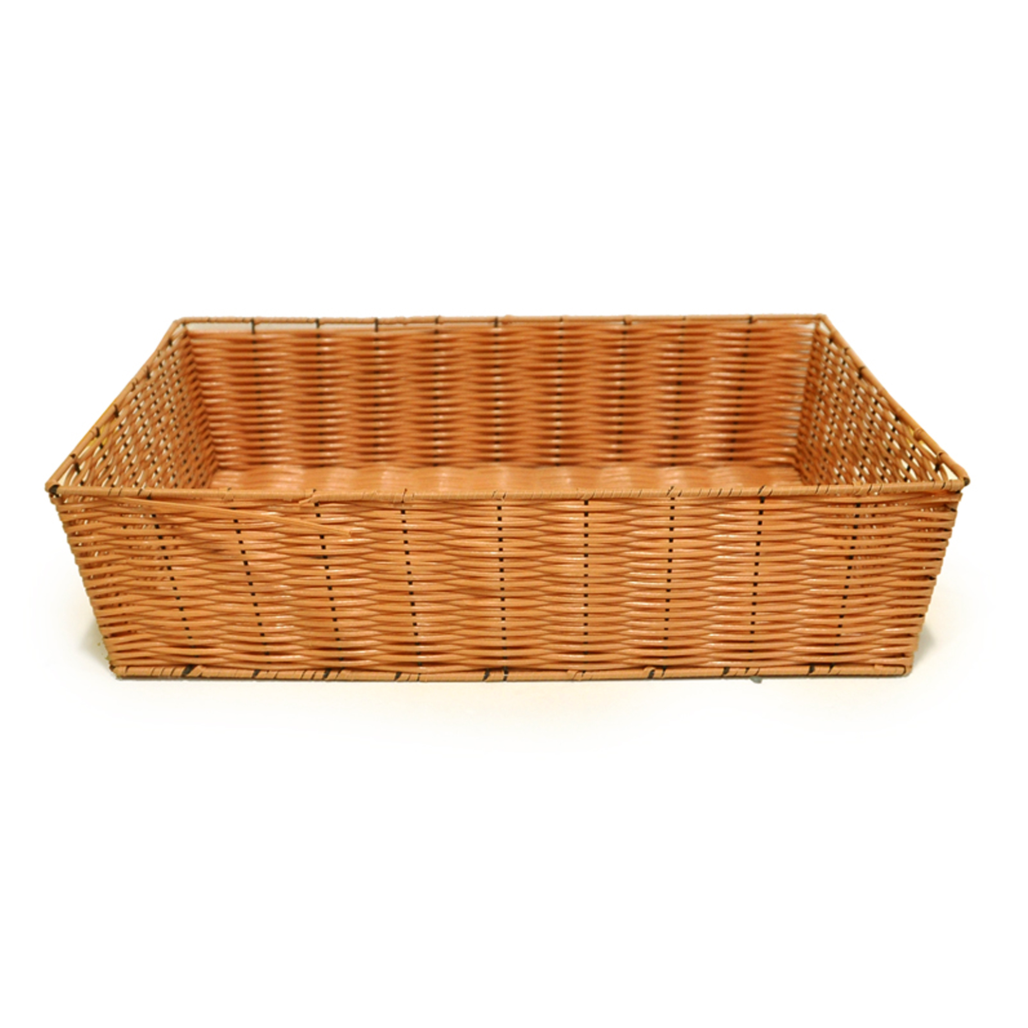Deep Rectangular Synthetic Wicker Tray 20in