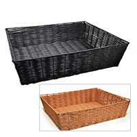 Deep Rectangular Synthetic Wicker Tray