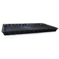 Shallow Rectangular Synthetic Wicker Tray