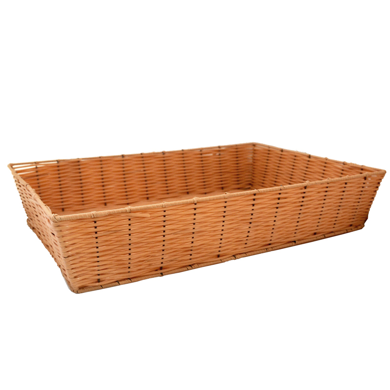 Deep Rectangular Synthetic Wicker Tray - Large 19in