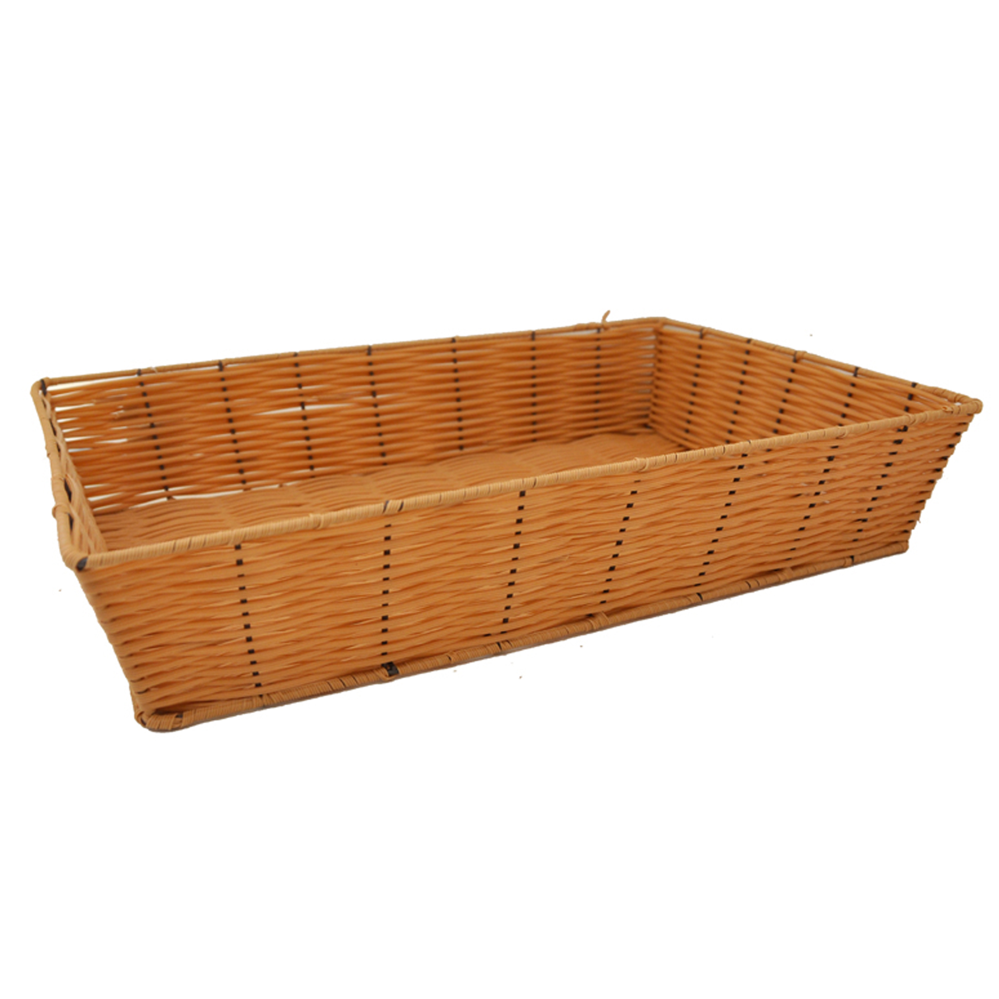 Rectangular Synthetic Wicker Tray - Large 17in