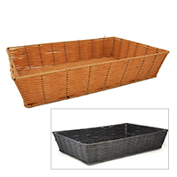 Rectangular Synthetic Wicker Tray - Large