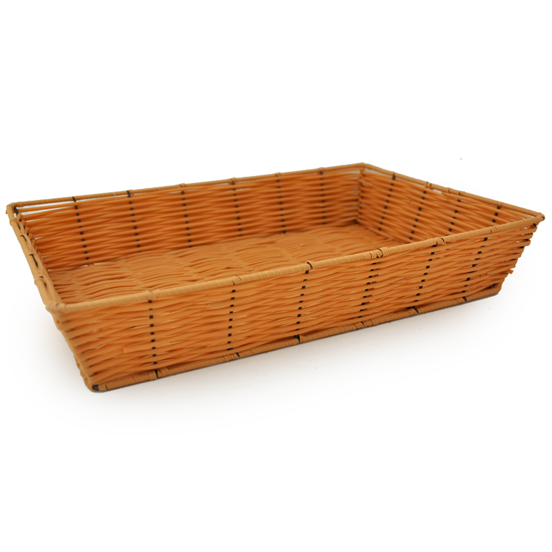Rectangular Synthetic Wicker Tray The Lucky Clover Trading Co.