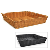 Square Synthetic Wicker Tray - Large