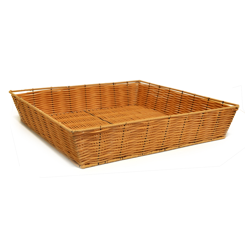 Square Synthetic Wicker Tray - Large 17in