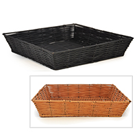 Square Synthetic Wicker Tray Small