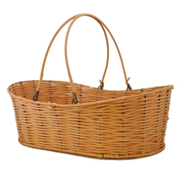 Oblong Synthetic Wicker Shopper Basket