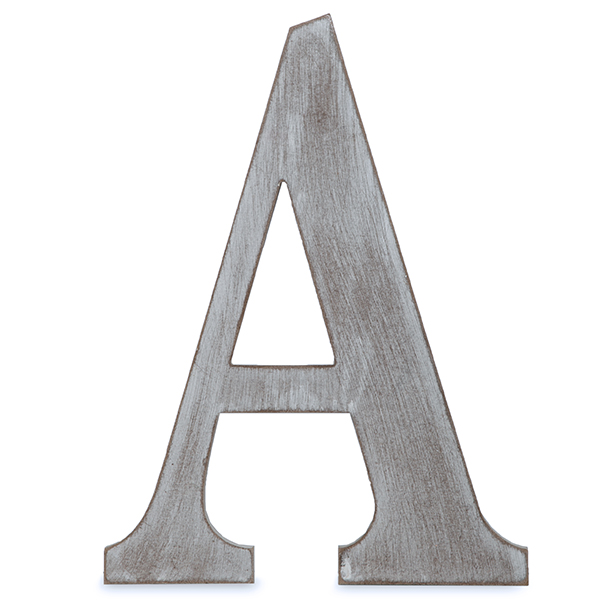 Wood Block Letter - Charcoal Grey 14in