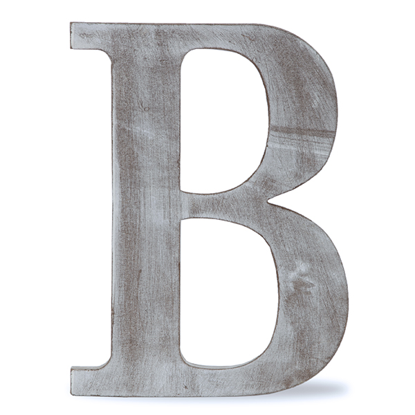 b block letter wood block letter charcoal grey 24in b the lucky 20537