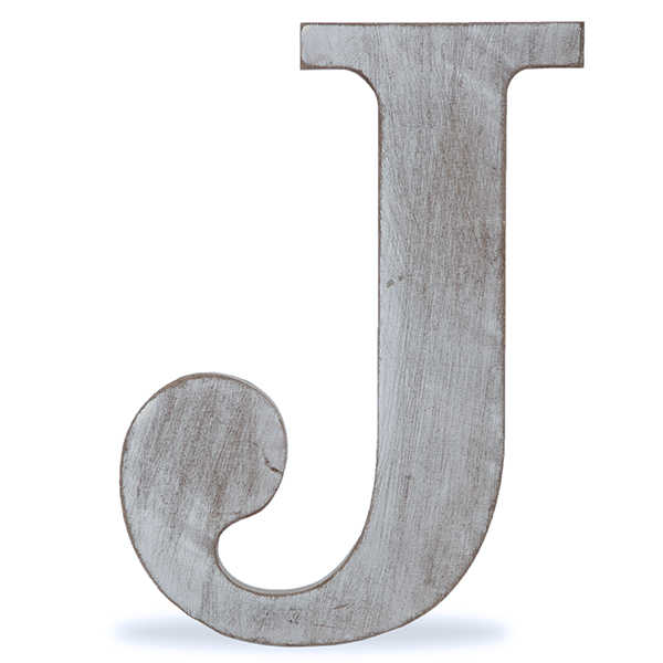 57ede0e6b Wood Block Letter - Charcoal Grey 8in - J The Lucky Clover Trading Co.